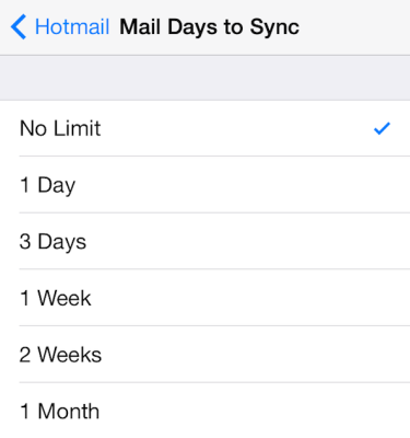 setup hotmail ios