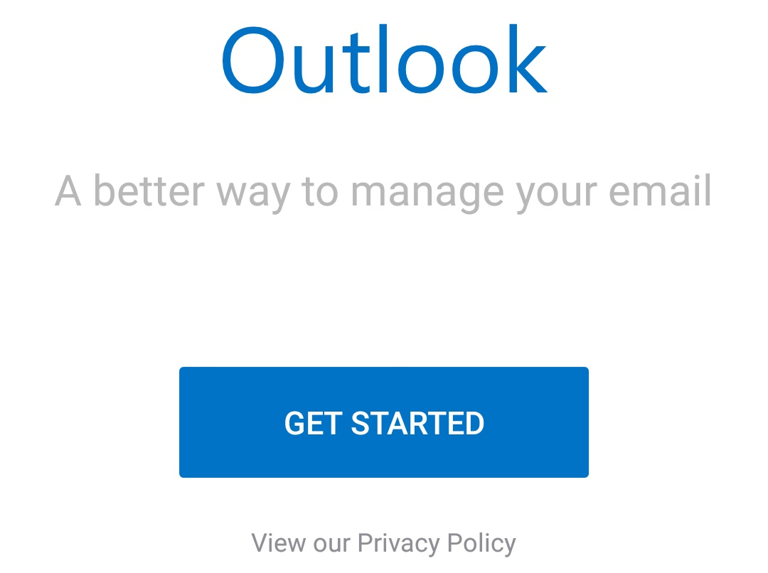 hotmail android get started
